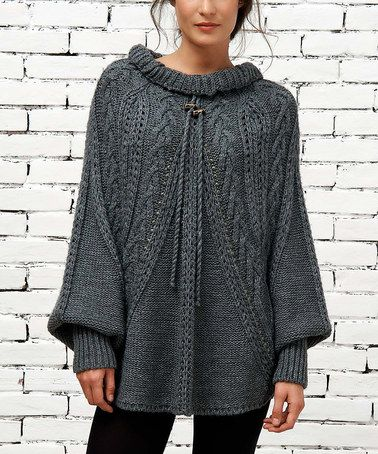 Love this Gray Cable-Knit Sweater by Angels Never Die on #zulily! #zulilyfinds