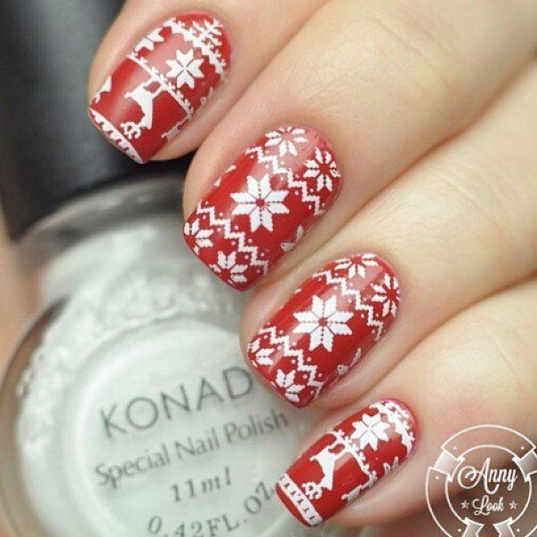 Beautiful winter nails, Ideas of winter nails, Jeans nails, Nail designs, New Year nails 2017, New year nails ideas 2017, New years nails, Pattern nails
