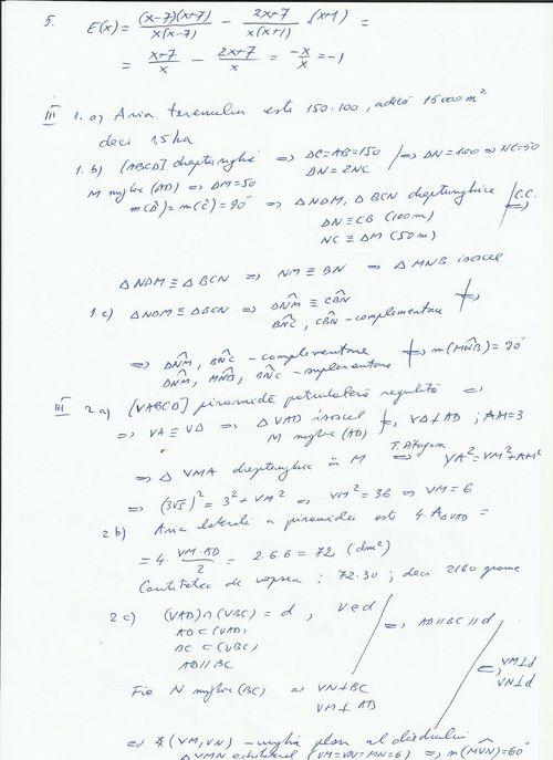 EVALUARE NAŢIONALĂ 2015. Subiectele de la matematică, rezolvate pe Mediafax.ro - Mediafax
