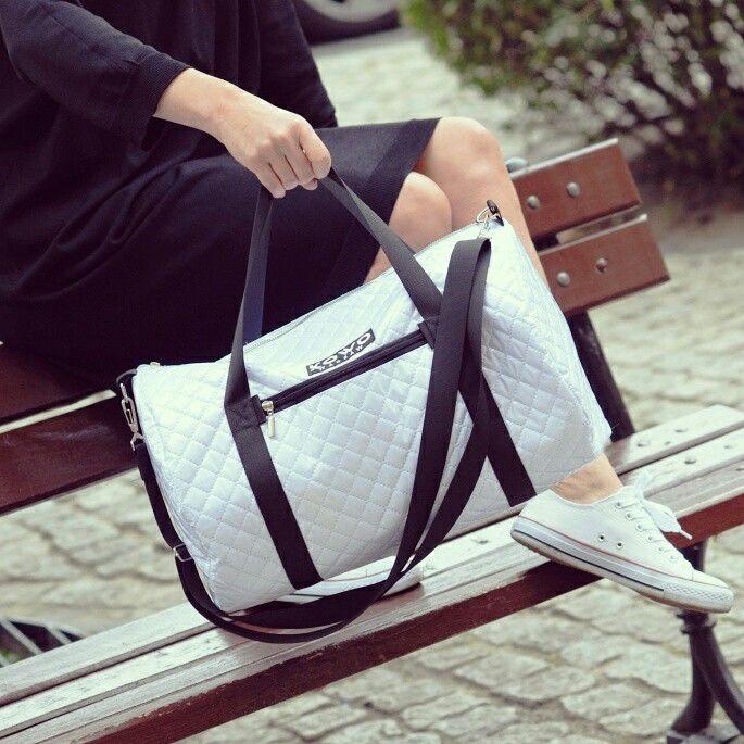 White sport bag Kowo Warsaw #kowowarsaw