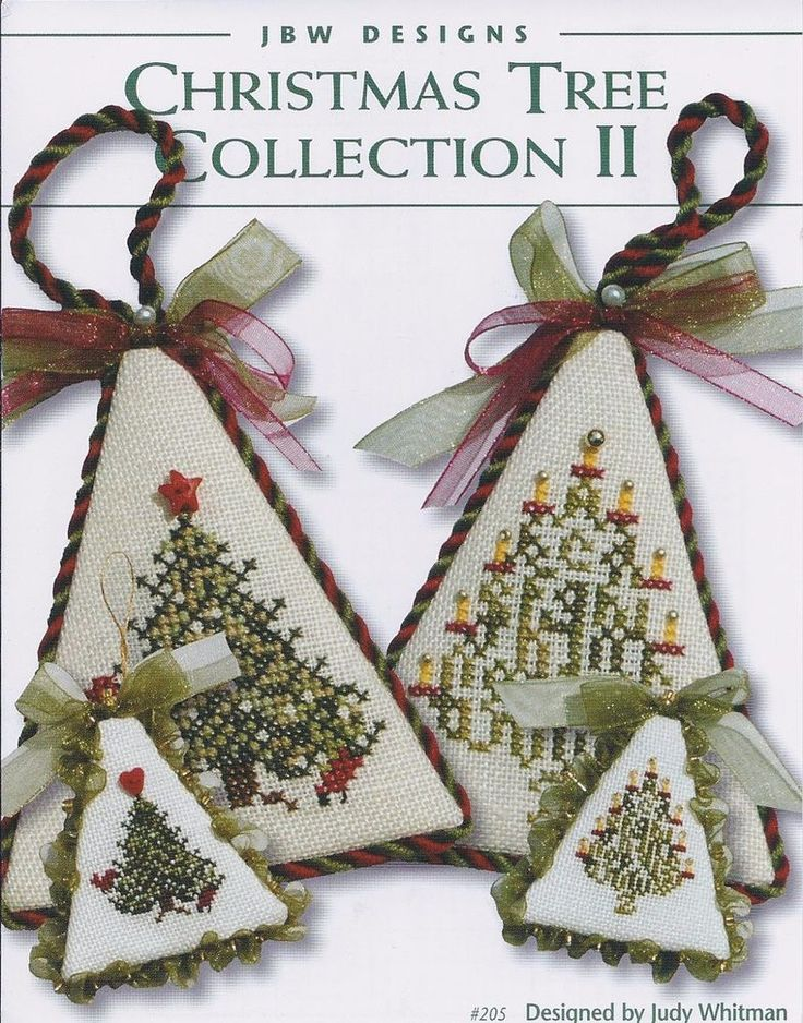 Christmas Tree Collection II counted cross stitch pattern-JBW Designs #JBWDesigns