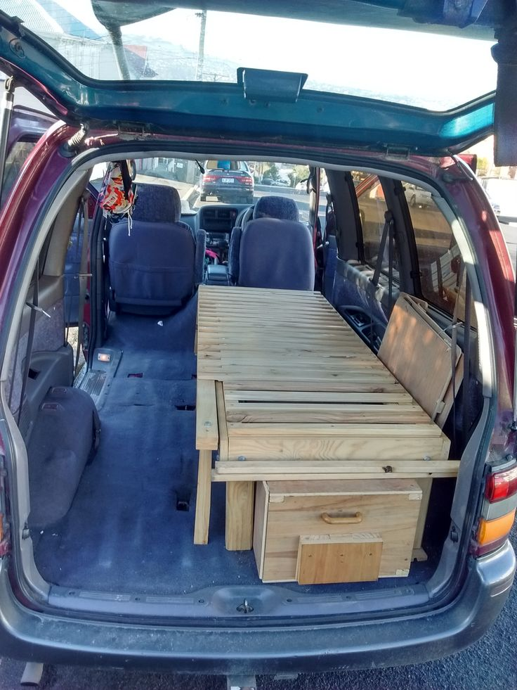 Simple Van Camping Conversion Life With Comfort DIY Bed And Kitchen Drawer My Tiny