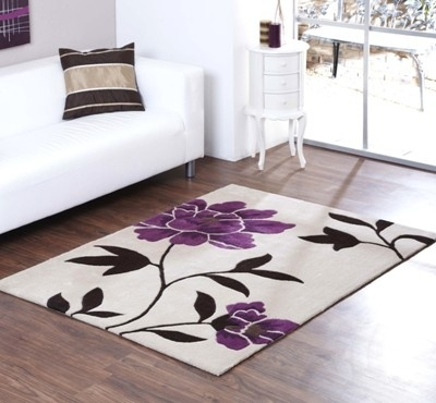 Cream and plum floral area rug rugs pinterest for Plum and cream rug