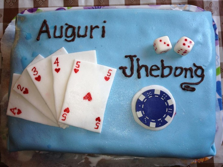 card and poker chips cake
