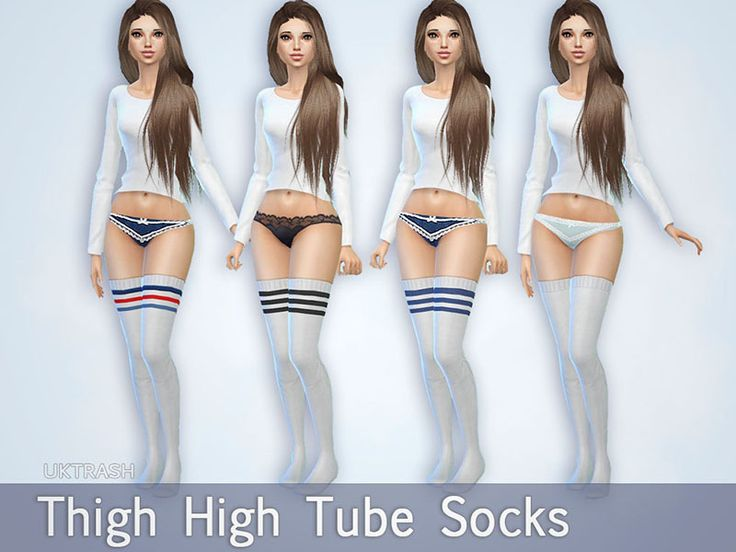 High tube socks available in 4 colors/styles Found in TSR Category 'Sims 4 Female Leggings'