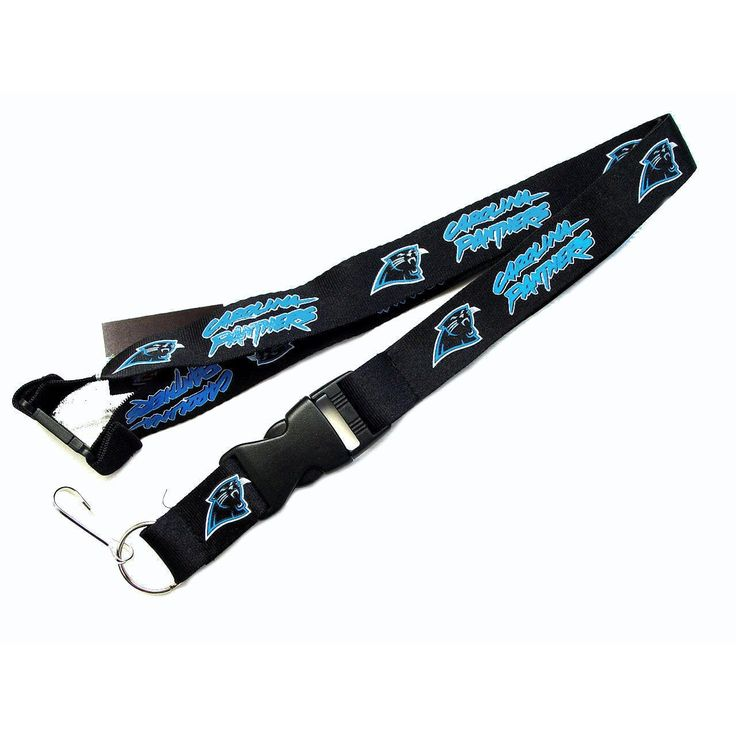 Aminco NFL Carolina Panthers Lanyard Keychain Batch Id Holder -