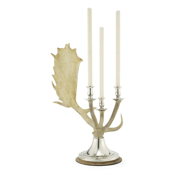 Stevenson Antler Triple Candleabra - Alpine Lodge - Tabletop / Accents - Products - Ralph Lauren Home - RalphLaurenHome.com  MSRP:  $2,795.00  I'd like a pair of these, please...