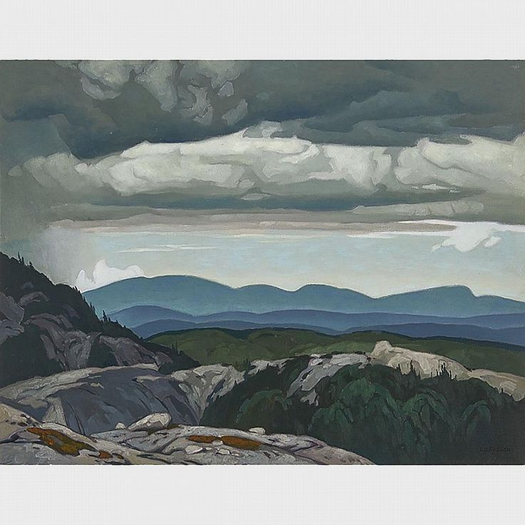 A.J. Casson - Mine Workings Cloche Hills 24 x 31 Oil on canvas (1965)