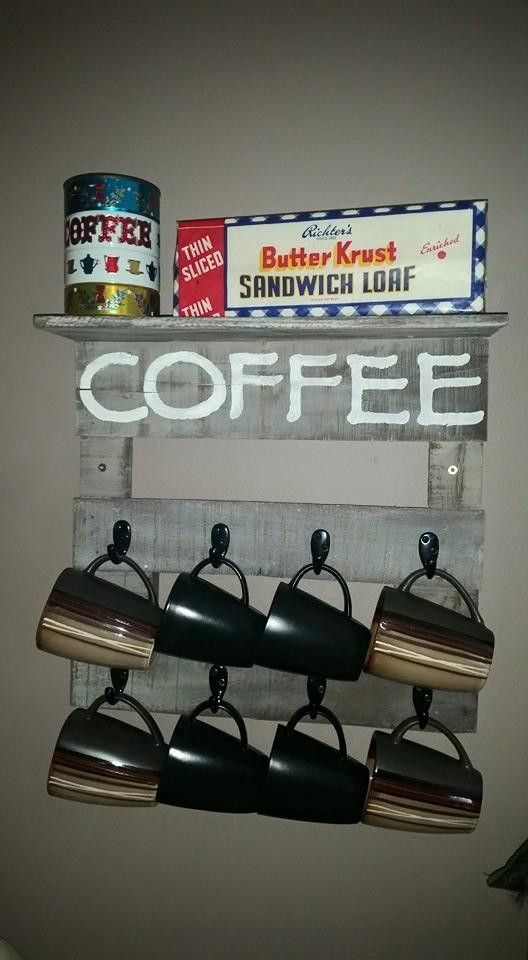 1000 ideas about coffee mug holder on pinterest mug for Mug racks ideas