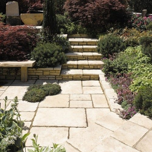 StoneFlair by Bradstone, Old Town Paving Weathered Limestone Patio Pack - 6.40 m2 Per Pack