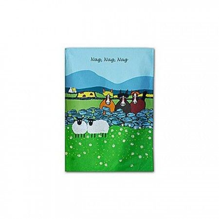 """Nag Nag Nag"" Cotton Tea Towel - £7.99"