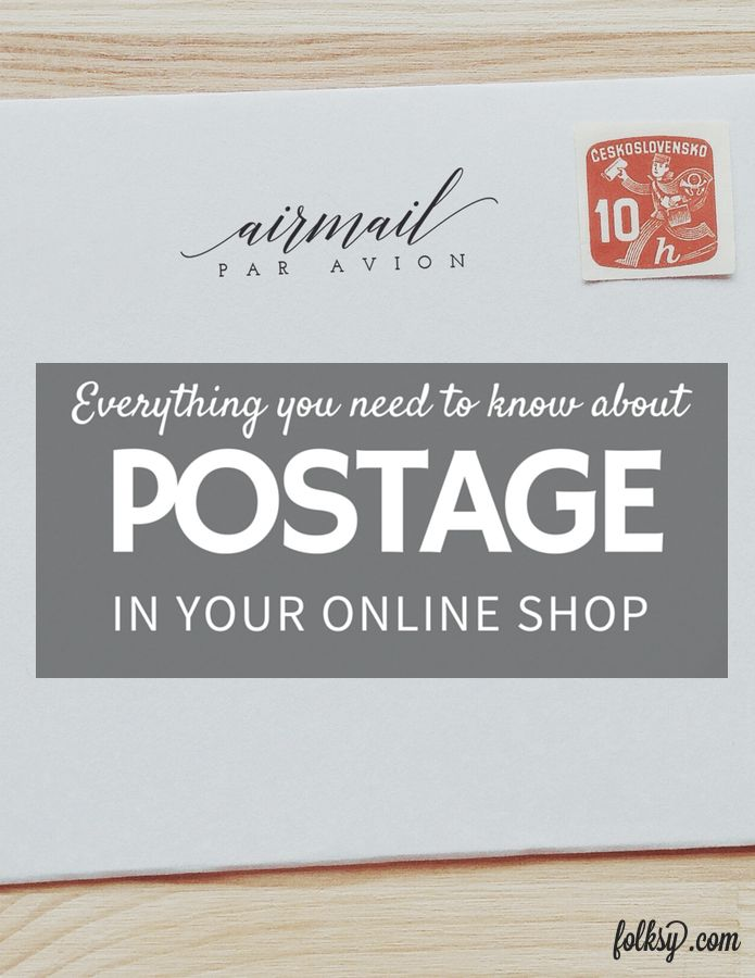 Everything you need to know about postage for your online shop