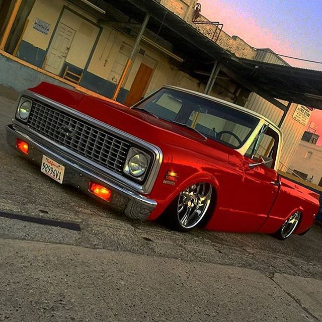 GASs.cans Rad slammed C10 from @gns_lifestyle #gasscans #chevy #c10…