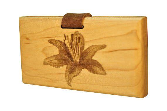 Wooden Wallet  Wood Wallet  Personalized Wallet
