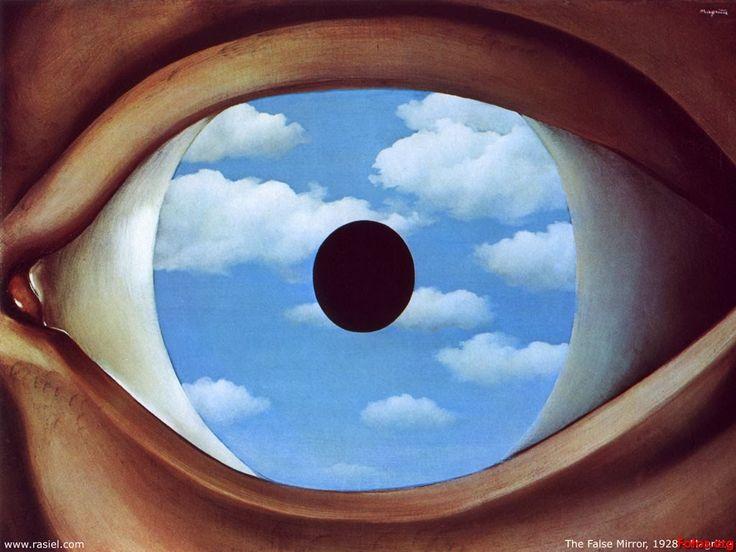 """The false mirror"", René Magritte, 1928. MOMA."