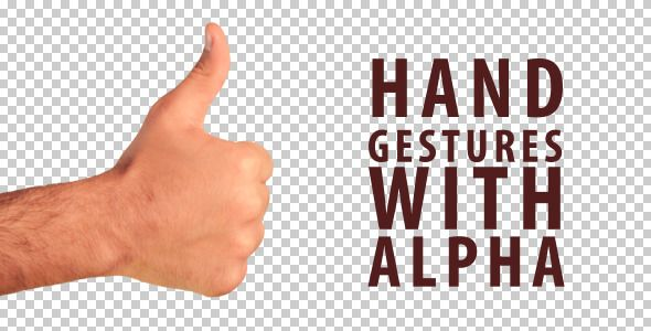 Hand Gestures - 12 hand signals with alpha. - #hand #gestures #alpha #video #edit #advertising #alpha #break #dislike #finger #gift #go #hand #handgestures #like #metal #money #ok #one #peace #rock  #videohive #envato