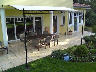 details zu terrassen berdachung metall berdachung pergola laube terrasse markise markise. Black Bedroom Furniture Sets. Home Design Ideas
