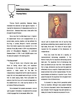 founding documents primary source common sense