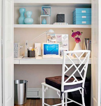small office in closet