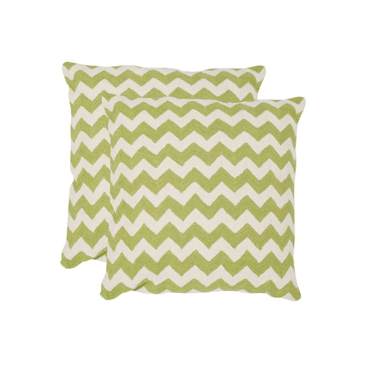 Chevron Tealea 2-piece 22'' x 22'' Throw Pillow Set, Lt Green