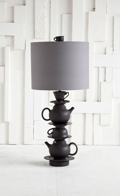 Alice Table Lamp I could probably make this with some matte paint hot glue and creativity