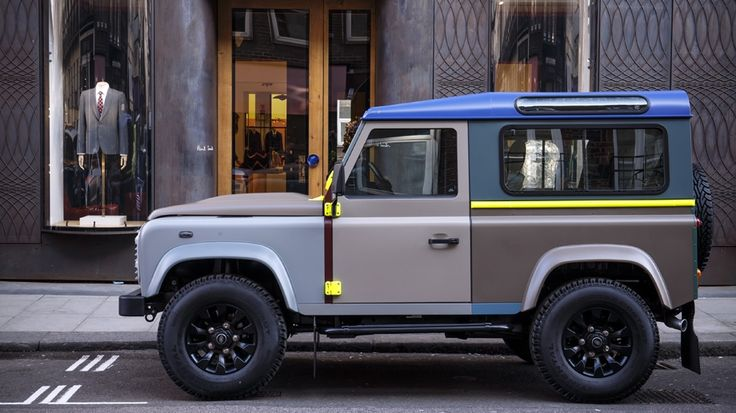 Using a palette of 27 colours, Paul Smith has created a typically vibrant Defender.