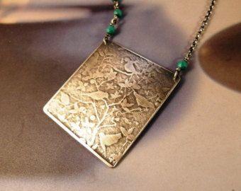 Case collana argento e rame metallo ciondolo gioielli di Mirma