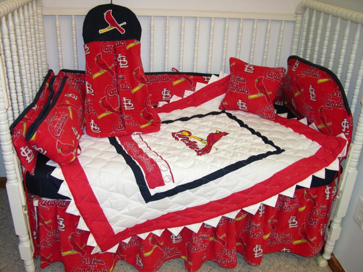 Crib Bedding Set Made W St Louis Cardinals Fabric Bedding