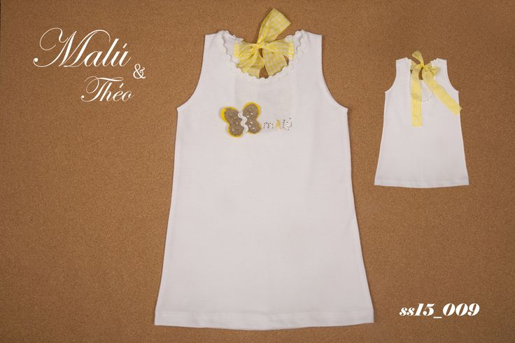 Pique Dress with swarovski elements - Italian Style for kids