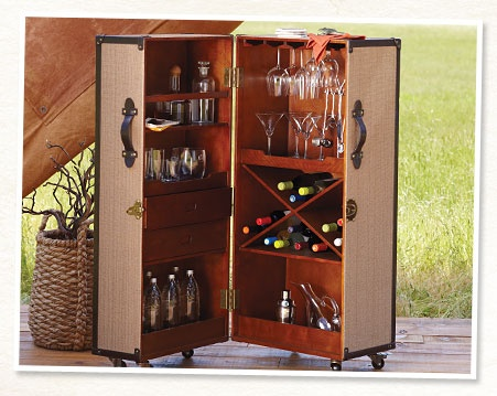 Love this! Happy Hour just went stylishly mobile! Look out neighbors, here we come! Build a Home Bar   World Market