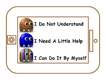 Student Communication Cards for Self Assessment Students Self Assess during a lesson or during practice Using the cards encourages students to think about where they are with their learning and provides a visual cue for the teacher  As students self reflect you know when kids need help or understand by the card on their desk.