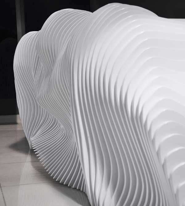 A Sculptural Reception Desk Part Of Complete Renovation The Showroom For Furniture Brand Prestige Group In Nicosia Cyprus Designers Erhan