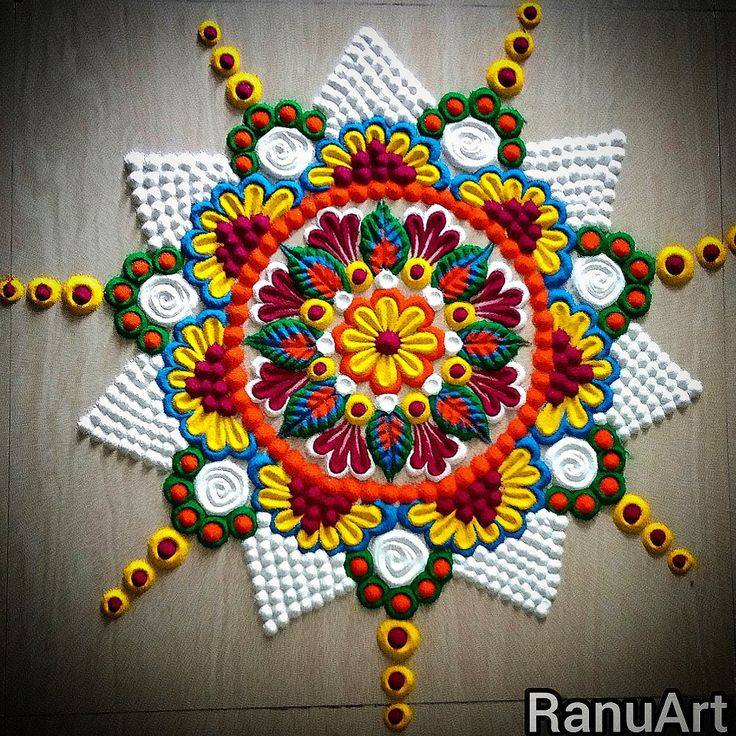 Diwali special rangoli, Latest rangoli design 2020, Latest