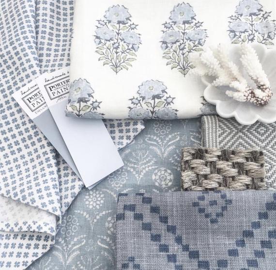 Lisa Fine Mughal Flower Pillow Cover In Monsoon Designer Flower Pillow Blue Throw Pillows Farmhouse Pillow