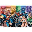DC Comics Justice League Characters - Maxi Maxi poster featuring a replication of classic DC Comics Justice League characters. (Barcode EAN=5028486240982) http://www.MightGet.com/january-2017-11/dc-comics-justice-league-characters--maxi.asp