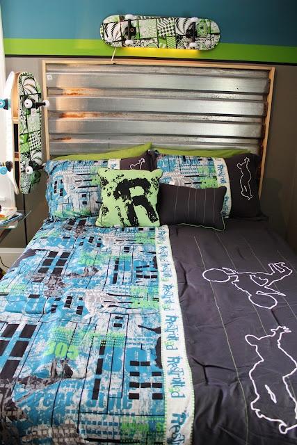 More skater room cool diy bed daniel house pinterest for Boys skateboard bedroom ideas