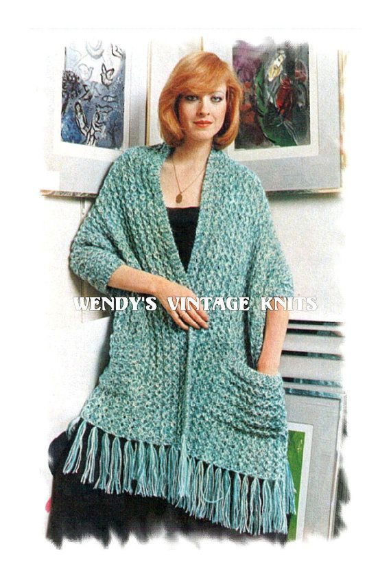 Instant Download PDf Easy Quick Beginners Knitting Pattern to make a Chunky S...