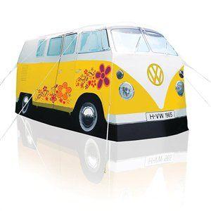 Volkswagon Campervan Tent 'Flower Power' http://www.19black.co.nz/webapps/p/102492/335781/909881