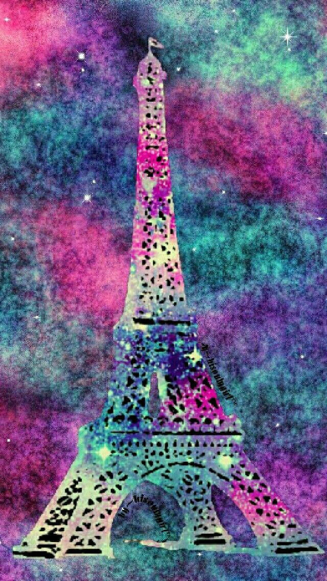 Eiffel Tower galaxy wallpaper I made for the app CocoPPa.
