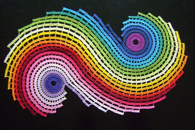 Crocheted Rainbow Fractal
