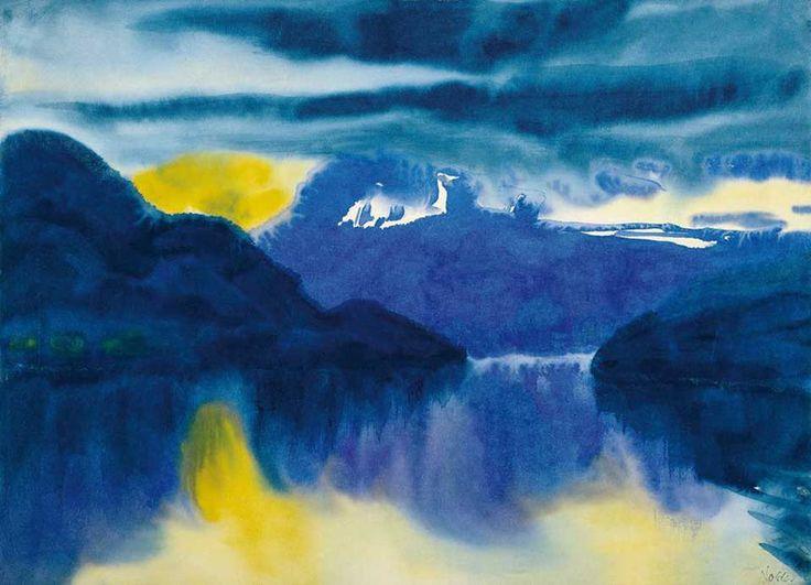 """forevernoon: """" Emil Nolde """"Lake Lucerne"""", 1930 """""""
