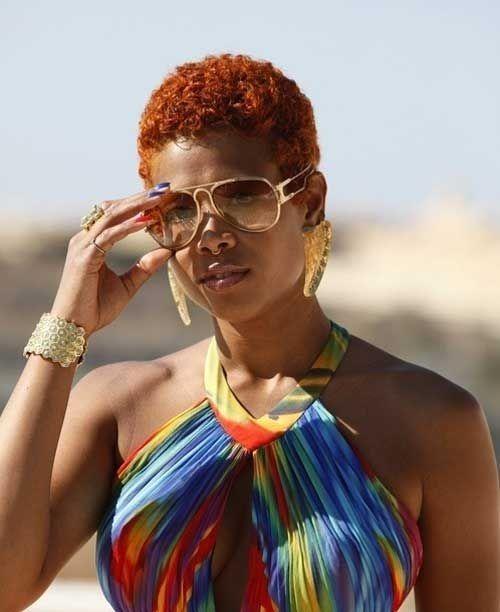 Teeny Weeny Afro Redhead Love TWA Hairstyles Natural