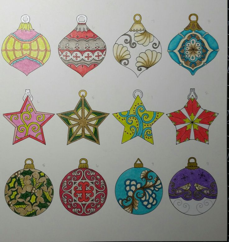 Colored Pencils Johanna Basford Coloring Books Natal Colouring In Drawings Xmas Christmas Tree Ornaments