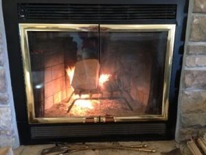 How to clean fireplace glass doors - when the air wash just won't cut it. Tried and tested traditional method.