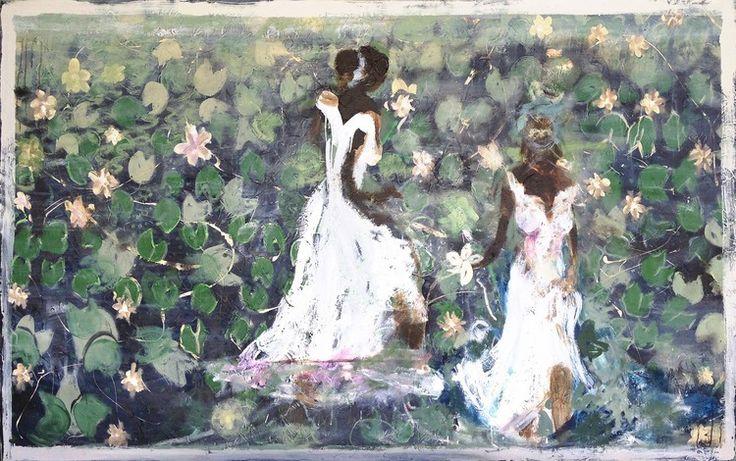 'Field of Lilies' 150cm x 236cm ,#JohnMaitland #ContemporaryArt #Art #Australia