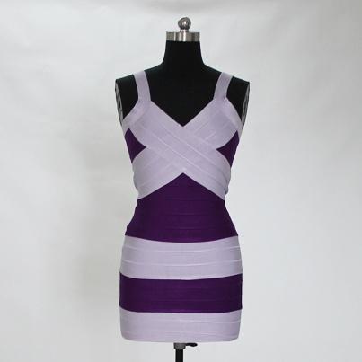 Low Cut Contrast Bandage Dress-Victoria Beckhem Style Code: 08357 US$89.00: Style Codes, Victoriabeckham Style, Beckhem Style