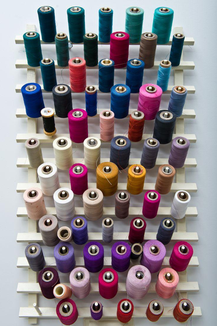 #carolinaherrera #design #atelier The amazing array of threads to incorporate into equally beautiful fabrics.                                                                                                                                                     More