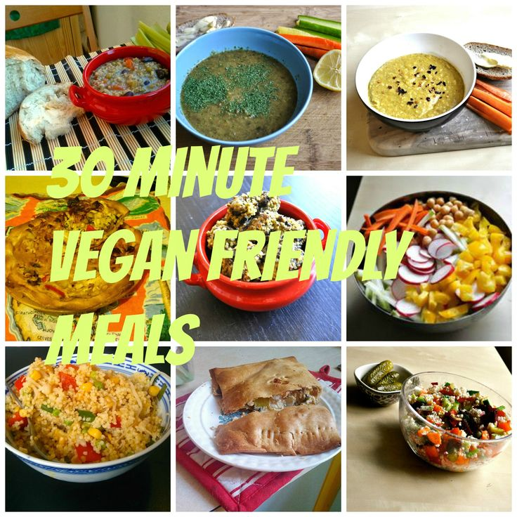 Join the weekly link up of 30 minute vegan lunches and dinners!