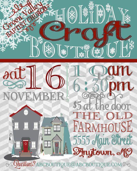 Winter Craft Fair Flyers