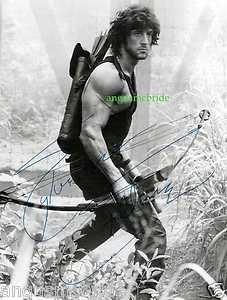 Stallone Rambo autograph reprint